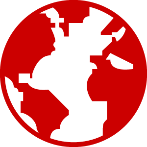 Globe - red icon