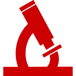 Microscope - red icon
